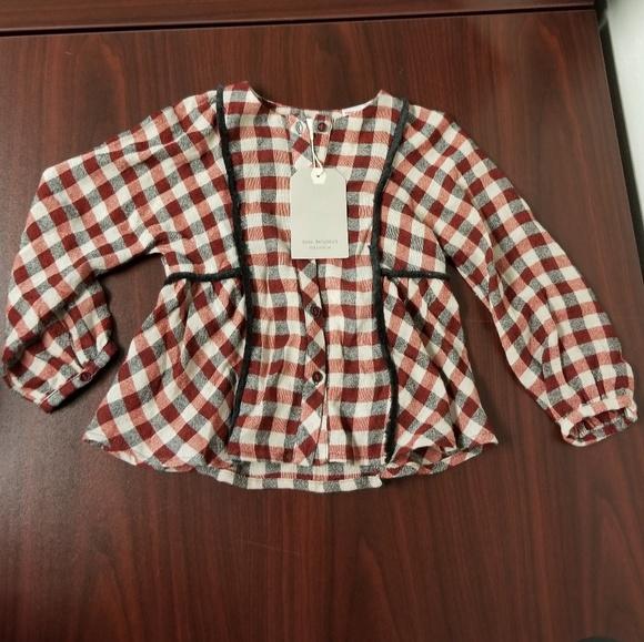 e5ce0f11 Zara Shirts & Tops | Baby Girl Nwt Checkered Shirt | Poshmark